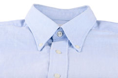 Collar shirt and iron Stock Photos