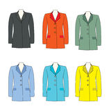Collar suit for women Stock Photos