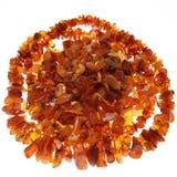 Collar y piedras ambarinos imagenes de archivo