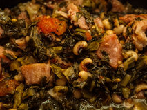 Collard Greens and Blackeye peas Royalty Free Stock Photo