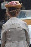 Collare del pizzo e cappello fiorito Fotografia Stock Libera da Diritti