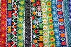 Collares étnicos vibrantes Imagenes de archivo