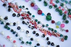 Collares coloridos hechos a mano Imagen de archivo libre de regalías