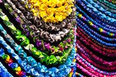 Collares coloridos hechos a mano Fotos de archivo libres de regalías