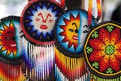 Collares coloridos hechos a mano de la gota/joyería hecha a mano Imágenes de archivo libres de regalías