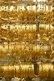 Collares, oro Souq de Dubai Foto de archivo libre de regalías