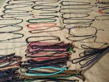Collares trenzados de la cuerda Fotografía de archivo