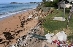 Collaroy海滩仍然被关闭和建设中 免版税库存图片