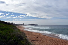 Collaroy beach in winter royalty free stock images