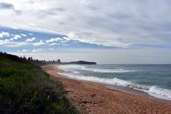 Collaroy plaża w zimie Obrazy Royalty Free