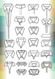 Collars. The collars of shirts for men and women Royalty Free Stock Images