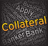 Collateral,Word cloud art background Royalty Free Stock Photo