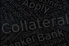 Collateral ,Word cloud art on blackboard Royalty Free Stock Images