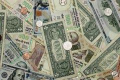 Collation d'INR et d'USD Photo libre de droits