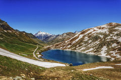 Colle del Nivolet Stock Photography