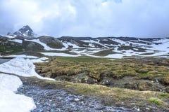 Colle dell'Agnello,法国阿尔卑斯 库存图片
