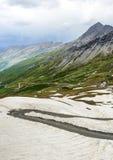 Colle dell'Agnello,法国阿尔卑斯 免版税库存照片
