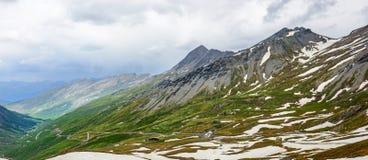 Colle dell'Agnello,法国阿尔卑斯 免版税图库摄影