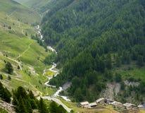 Colle dell'Agnello, Val Varaita 免版税库存图片
