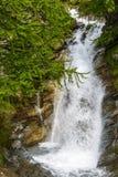 Colle dell'Agnello: cascade. Colle dell'Agnello (Val Varaita, Cuneo, Piedmont, Italy), mountain cascade at summer Stock Photos
