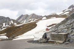 Colle dell'Agnello, franska fjällängar Royaltyfri Foto