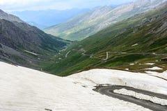 Colle-dell'Agnello, französische Alpen Lizenzfreie Stockfotos