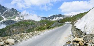 Colle dell'Agnello, Italian Alps. Colle dell'Agnello (Val Varaita, Cuneo, Piedmont, Italy), mountain landscape at summer Stock Photo