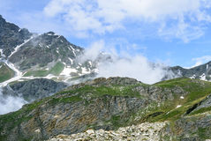 Colle dell'Agnello, Italian Alps Royalty Free Stock Photo