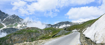 Colle-dell'Agnello, italienische Alpen Stockfotografie