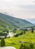 Colle-dell'Agnello, Val Varaita Lizenzfreies Stockfoto