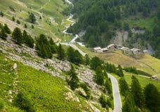 Colle dell'Agnello, Val Varaita Arkivfoton