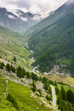 Colle dell'Agnello, Val Varaita. Colle dell'Agnello (Val Varaita, Cuneo, Piedmont, Italy), mountain landscape at summer Royalty Free Stock Image