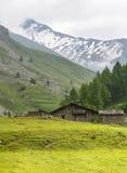 Colle dell'Agnello, Val Varaita. Colle dell'Agnello (Val Varaita, Cuneo, Piedmont, Italy), mountain landscape at summer Royalty Free Stock Photos