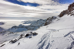 Colle della Malfatta with snow in winter, Alagna Valsesia, Italy Royalty Free Stock Image