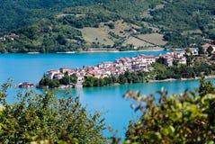 Colle di Tora on Lake Turano Royalty Free Stock Image