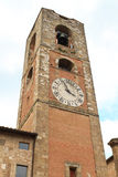 Colle di Val d´Elsa. Colle di Val d'Elsa (Siena, Tuscany, Italy), Clock Tower of Church Stock Photos