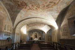 Colle di Val d'Elsa, cathedral interior Royalty Free Stock Photography