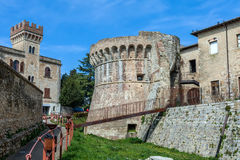 Colle Di Val D Elsa Italy. Medieval fortification at Colle Di Val D Elsa, Tuscany, Italy Royalty Free Stock Image
