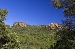 Colle Rousse Blavet Gorge, Bagnols Image libre de droits