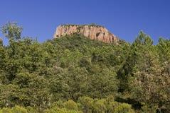 Colle Rousse, tomadas vulcânicas, desfiladeiro de Blavet, Bagnols Fotos de Stock Royalty Free
