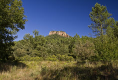 Colle Rousse, Volcanic plugs, Blavet Gorge, Bagnols Stock Photography