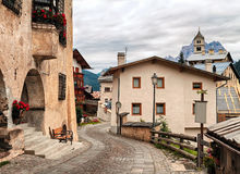Colle Santa Lucia. View of Colle Santa Lucia beautiful village in Dolomites, Italy Stock Image