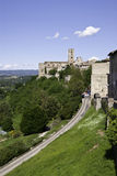 Colle Val D'Elsa old city center. Tuscany, Italy. s a town in the province of Siena, 50 km south of Florence Royalty Free Stock Photography