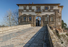 Colle Val d'Elsa. The Palazzo Campana, one of the entrances to the old town of Colle Val d'Elsa, in province of Siena Stock Photos