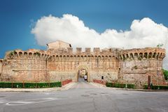 Colle Val D'Elsa. Remains of medieval fortifications of the city Royalty Free Stock Photo