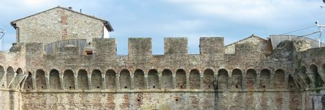 Colle Valdelsa city walls royalty free stock photography