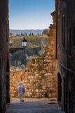 Colle Valdelsa, Siena, Toscana - Italia immagine stock