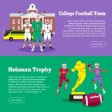 Colleage Football Team, Heisman Memorial Trophy Stock Photos