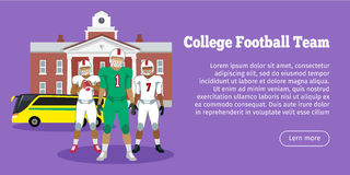 Colleage Football Team. High School Stock Image