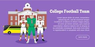 Colleage Football Team. High School Stock Image